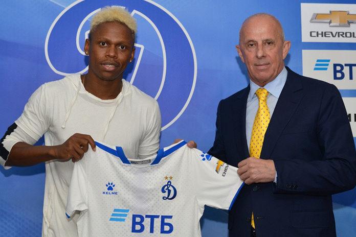 Njie sous les couleurs du Dynamo Moscou